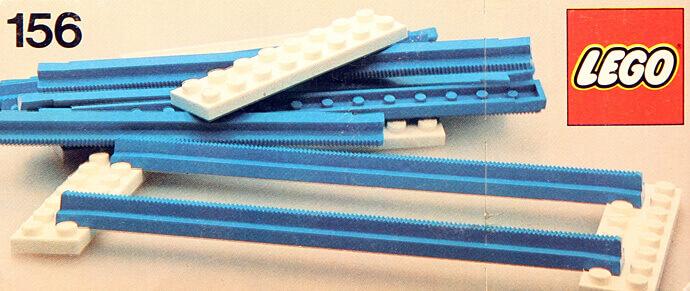 Vías azules de Lego