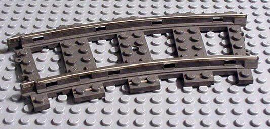 Vías grises de lego