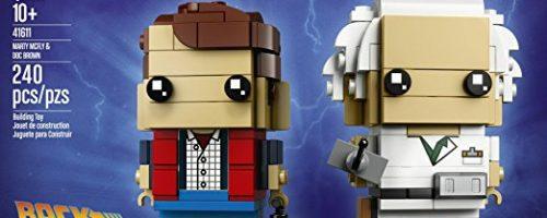 Lego BrickHeadZ de Regreso al Futuro